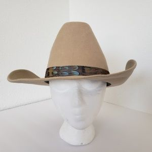 Rock mount   100%wool  Permashape western  hat